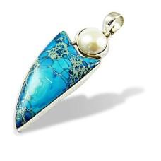 925 Silver Jewellery High Polish Pearl, Versite Gemstone Pendant Wholesale Price