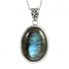 Awesome 925 Sterling Silver Labradorite Pendant