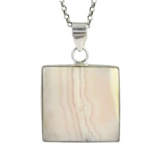 Stunning 925 Silver pink lace jasper howlite Pendant