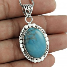 Very Light 925 Sterling Silver arizona Turquoize Pendant Manufacturer India