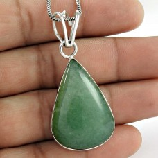 925 sterling silver gemstone Jewellery Charming Green Zade Gemstone Pendant