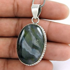 925 Sterling Silver Antique Jewelry Designer Moss Agate Gemstone Pendant Al por mayor