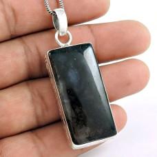 925 Sterling Silver Gemstone Jewellery Trendy Moss Agate Gemstone Pendant Proveedor