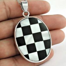 Stunning! 925 Sterling Silver Shell Pendant
