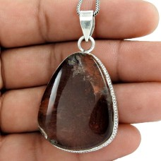 925 sterling silver indian jewelry Beautiful Lodolite Gemstone Pendant