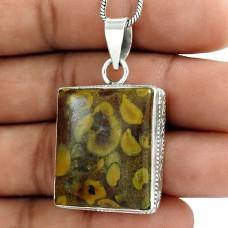 925 Silver Jewellery Ethnic Chinese Writing Gemstone Pendant Manufacturer