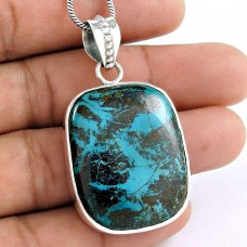 sterling silver fashion jewelry Rare Azurite Gemstone Pendant