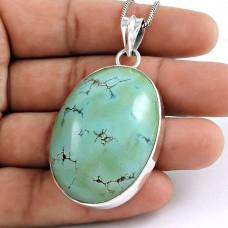 925 Sterling Silver Jewelry High Polish Tibetan Turquoise Gemstone Pendant Grossiste