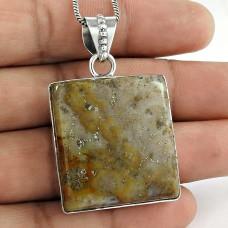 925 Sterling Silver Vintage Jewellery Ethnic Jasper Gemstone Pendant Wholesaling