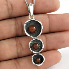 Captivating !! 925 Sterling Silver Carnelian Pendant