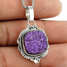 Big Secret Design !! 925 Sterling Silver Druzy Pendant