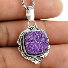 Big Secret Design !! 925 Sterling Silver Druzy Pendant