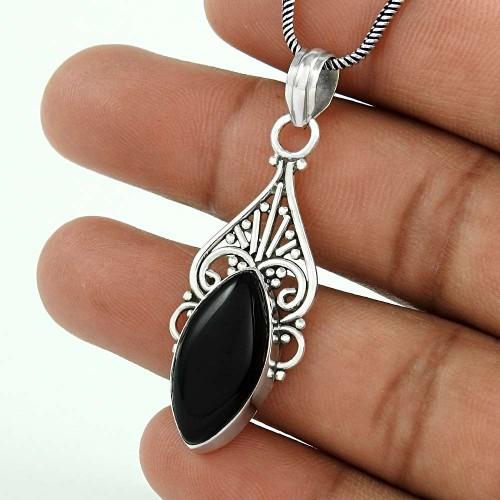 Classy Design ! 925 Sterling Silver Black Onyx Pendant Großhandel