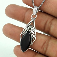Jumbo Fantastic !! 925 Sterling Silver Black Onyx Pendant Hersteller