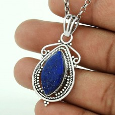925 sterling silver antique jewelry Beautiful Lapis Gemstone Pendant