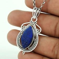 925 sterling silver antique jewelry Beautiful Lapis Gemstone Pendant