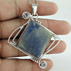 925 Silver Jewellery Beautiful Sodalite, Amethyst Gemstone Pendant Wholesale