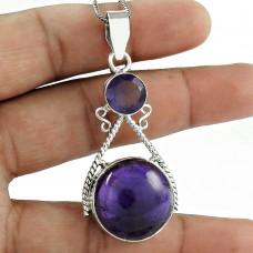 indian silver jewelry Designer Amethyst Gemstone Pendant