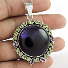 925 Sterling Silver Jewelry Fashion Amethyst, Peridot Gemstone Pendant Großhandel
