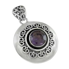 Amazing!! 925 Sterling Silver Amethyst Pendant