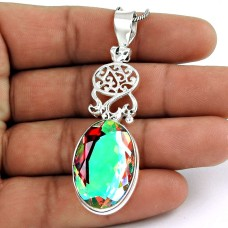 Rattling New Mystic Gemstone Pendant 925 Silver Jewellery