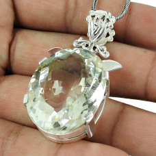 Lustrous Crystal Gemstone Pendant 925 Sterling Silver Fashion Jewellery
