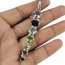 Handy Amethyst, Iolite, Blue Topaz, Peridot, Citrine, Carnelian, Garnet Gemstone Pendant Sterling Silver Fashion Jewellery
