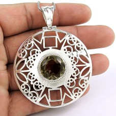Pretty Smoky Quartz Gemstone Pendant 925 Sterling Silver Gemstone Jewellery