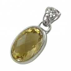 Best Design! 925 Sterling Silver Citrine Pendant