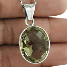 So In Love !! 925 Sterling Silver Citrine Pendant