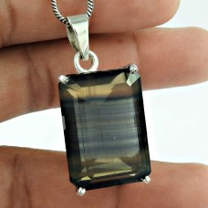 Indian Sterling Silver Jewelry Fashion Fluorite Gemstone Pendant Großhändler