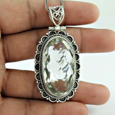 Big Grand Love! 925 Sterling Silver Crystal Pendant