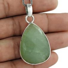 925 Sterling Silver Fashion Jewelry Charming Green Aventurine Gemstone Pendant Großhändler