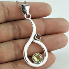 925 Sterling Silver Jewelry Fashion Citrine, Garnet Gemstone Pendant Wholesaler