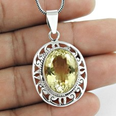 sterling silver jewelry Beautiful Citrine Gemstone Pendant
