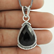 indian silver jewelry Beautiful Black Onyx Gemstone Pendant Fabricant