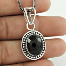 925 sterling silver fashion jewelry Charming Black Onyx Gemstone Pendant