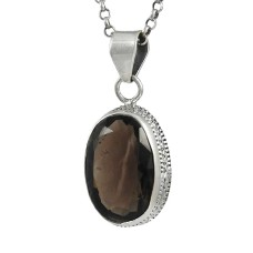 Big New Awesome !! 925 Sterling Silver Smoky Quartz Pendant Großhandel