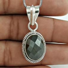 925 Sterling Silver jewelry Fashion Gun Metal Gemstone Pendant