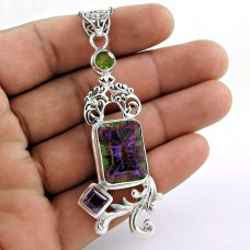 Fantastic!! 925 Sterling Silver New Mystic, Amethyst, Peridot Pendant Lieferant