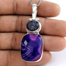 Big Special Moment 925 Sterling Silver Multi Stone Pendant Supplier