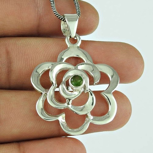 Engaging Tourmaline Gemstone 925 Sterling Silver Pendant Jewellery