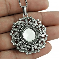 Love At First Sight Light! Glass 925 Sterling Silver Boho Pendant