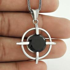 925 Sterling Silver Jewelry !! Wholesaler Black Onyx Gemstone Silver Jewelry Bohemian Pendant