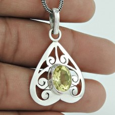 Mystic Princess ! 925 Sterling Silver Citrine Pendant