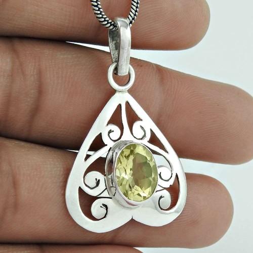 Mystic Princess ! 925 Sterling Silver Citrine Pendant