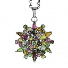 925 Silver Jewellery Charming Tourmaline Gemstone Pendant Wholesaling
