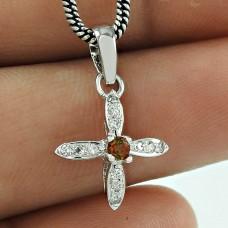 Party Wear CZ Gemstone 925 Sterling Silver Fashion Pendant Jewellery