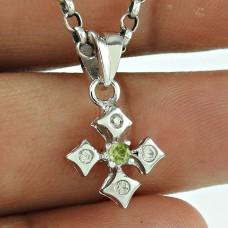Rattling CZ Gemstone 925 Sterling Silver Pendant Jewellery