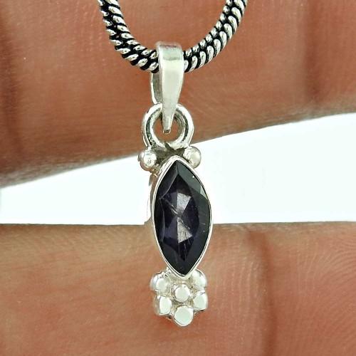Graceful Garnet Gemstone 925 Sterling Silver Pendant Jewellery